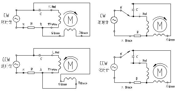 Wiring Diagram Single Phase Induction Motor : Wiring diagram for a split phase induction motor